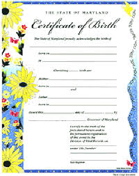Birth Certificate Format Comombcert Gif Think Down Town Kc