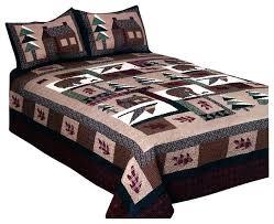 cabin quilt sets winter cabin quilt set king
