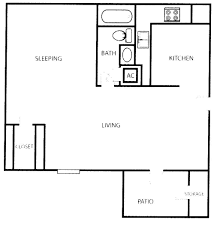 Small One Bedroom Apartment Floor Plans Open Space Studio Apartment Floor Plan Design Plans Tikspor