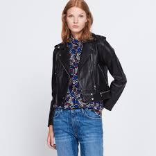short leather jacket jackets color black