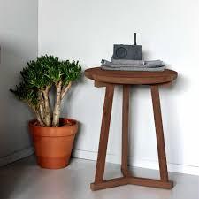 ethnicraft walnut tripod side table 46cm