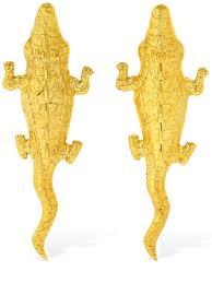 <b>Natia X Lako</b> - Medium crocodile earrings -   Luisaviaroma