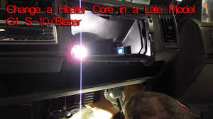 How to Change A Heater Core on a 1994 Chevy S-10, Blazer, GMC ...
