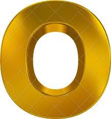 3d letters png letter o d golden