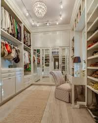a chic white closet walk in lighting23