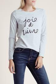 Kensie Clothing Size Chart Joie De Vivre Blue And White Top Kensie Clothing Kensie