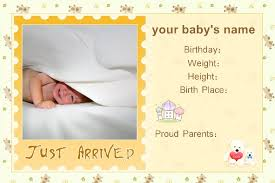 birth announcement templates free photo templates baby birth announcement