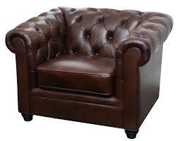 Galveston Premium Italian Leather Chesterfield Chair