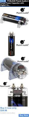 capacitors planet audio pcblk2 0 2 farad car capacitor capacitors pcblk20 planet audio 2 farad power capacitor digital voltmeter display buy it now