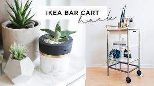 IKEA BAR CART HACK: Marble and Gold DIY ($35)