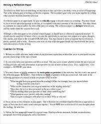 sample reflective essay examples in word pdf reflective essay paper format