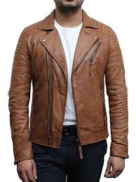 mens slim fit cross zip retro vintage brando real leather jacket vintage biker designer style b01icfbgt8