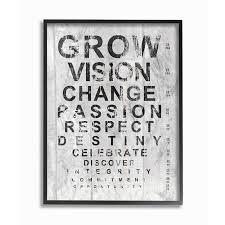 Stupell Industries Grow Eye Chart Inspirational Textual Art