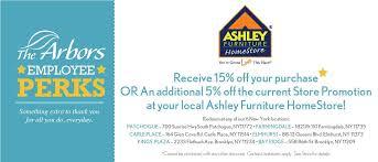 ashley furniture employee perk
