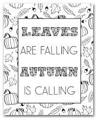 Free Fall Coloring Pages To Color Sarah Titus