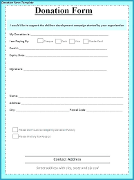 Donation Pledge Card Template Piazzola Co