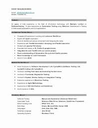 resume format for software testing fresher inspirational manual