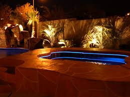 Inground pools at night Small Light2 Premier Pools Spas Clearwater Pools Custom Pool Features Inground Pool Builder