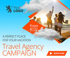 Travel Ads Travel Agency Web Facebook Banners Ads By Belegija Graphicriver