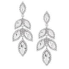 crystal leaf chandelier earrings