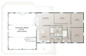 home addition floor plan great room addition plan post beam barn style homes building home addition home addition floor plan
