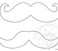 Small Picture Coloring mustache mustache template coloring page free coloring
