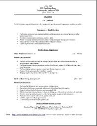 Lab Technician Resume Objective Lab Technician Resume Template