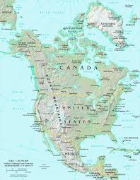 Map Of North America Map North America Atlas