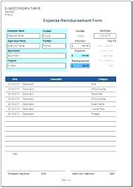 Travel Reimbursement Form Template Expense Report Form Mileage Reimbursement Free Excel Template Travel