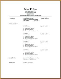 Simple Resume Sample Impressive Basic Resume Samples Datainfo
