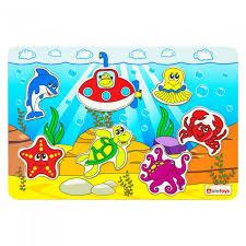 <b>Деревянная игрушка Alatoys Пазл</b> Океан - Акушерство.Ru