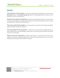 Design Proposal Sample Web Design Proposal Template
