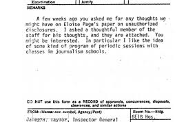 What Is An Internal Memo In Internal Memos Cia Inspector General Portrayed The Media As