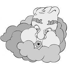 Disegno Di Vento E Nuvole A Colori Per Bambini
