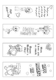 Bookmark Coloring Pages How To Craft Mothers Day Bookmark Coloring Page Hellokids Com