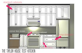 planning a new home test kitchen cabinets