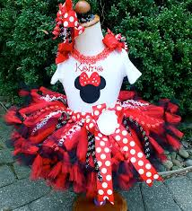 red and black minnie mouse ribbon birthday tutu set