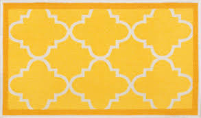 vibrant yellow accent rug dallas moroccan trellis gold and white modern geometric