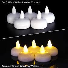 Solar Tea Lights Walmart Novelty Place Led Floating Candles Flameless Tea Lights