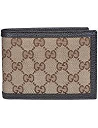 gucci keychain wallet. men\u0027s canvas leather gg guccissima bifold wallet (beige/brown) gucci keychain n