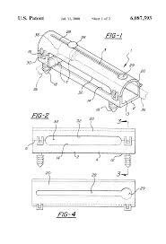 patent us6087593 wire harness protector anti rotation and patent drawing