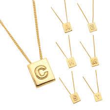 celine necklace accessories celine 46n0a6bra35or alphabet brass nickel free lady s pendant gold
