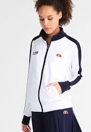 ellesse aspetto tracksuit top optic white peacoat women sports clothing ellesse tracksuit jd elegant factory