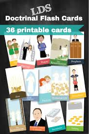 Flash Card Design Ideas Doctrinal Flash Cards For All Ages And General Conference