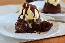 chocolate cake with vanilla ice cream. Unique Cake Chocolate_Molten_Lava_Cakes1 With Chocolate Cake Vanilla Ice Cream