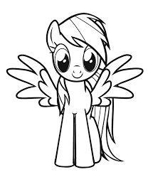 Small Picture rainbow dash coloring pages free printable for kids Free