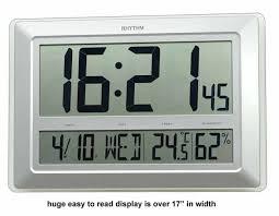 big tiempo large lcd wall clock