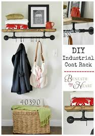 City Coat Rack London DIY Industrial Coat Rack Beneath My Heart 58