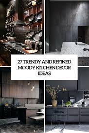 Dark Kitchen 27 Moody Dark Kitchen Daccor Ideas Digsdigs