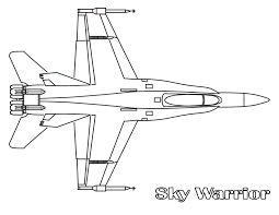 ferocious fighter jet planes coloring page